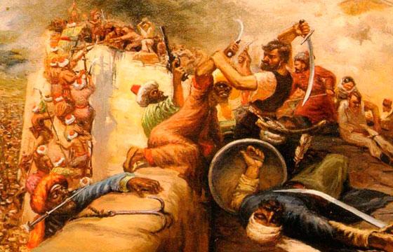 Турки нападают на казачью крепость