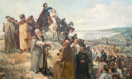 Петр I скорбит о потере полков