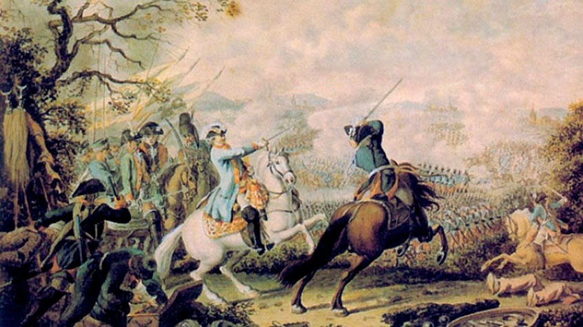 Румянцев ведет войско против турок