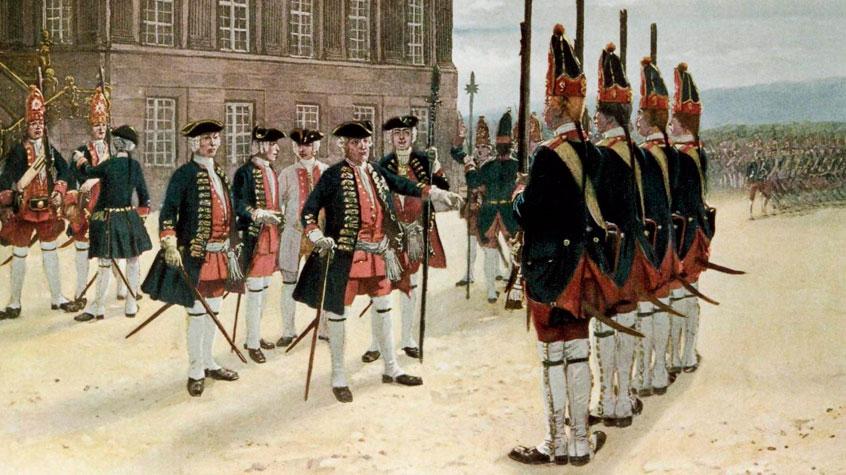 Прусский король ведет армию