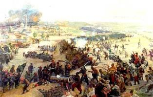 Суворов переправляет войско на плотах
