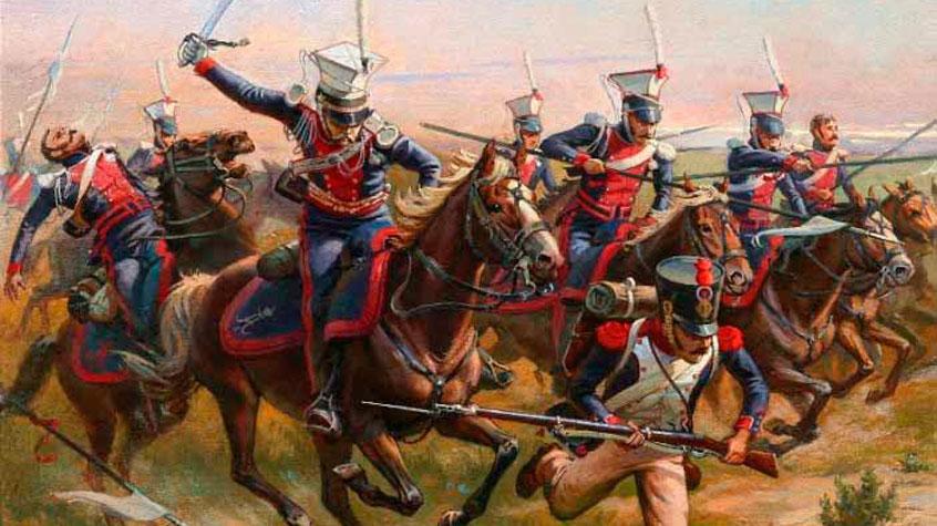 Русские войска разбивают французов