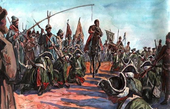 Начало восстания на Яике